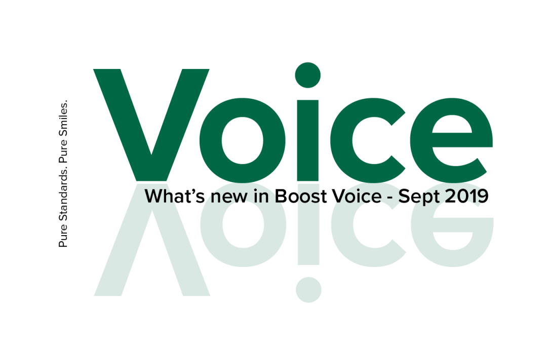 What's New in Boost Voice in September 2019