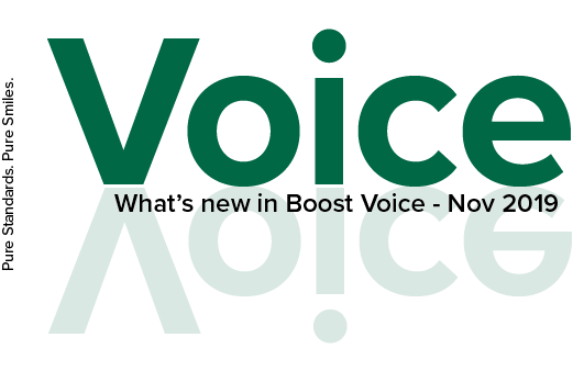 What's New in Boost Voice in November 2019